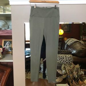 Bebe Sage Green, high waist, zip up pant/leggings